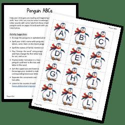 Penguin ABCs activity