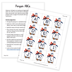 Penguin ABCs activity