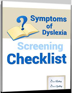Symptoms of Dyslexia Screening Checklist