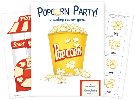 Popcorn Party Spelling Game